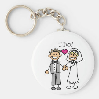 Bride and Groom Exchange vows Basic Round Button Key Ring