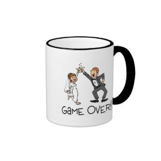 Bride and Groom Game Over Ringer Mug