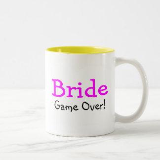 Bride Game Over Two-Tone Mug