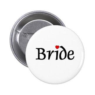 Bride (Red Hearts) 6 Cm Round Badge