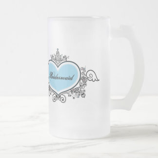 Bridesmaid Frosted Glass Mug