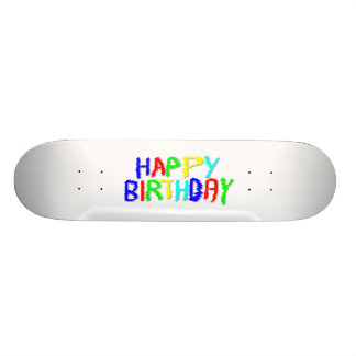 Bright and Colorful. Happy Birthday. 20 Cm Skateboard Deck
