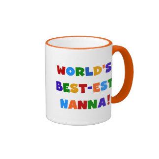 Bright Colors Best-est Nanna Tshirts Ringer Mug