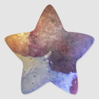 Bright colourful abstract grunge Colour explosion! Star Sticker