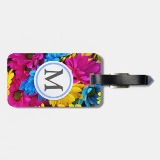 Bright Flowers Tags For Bags