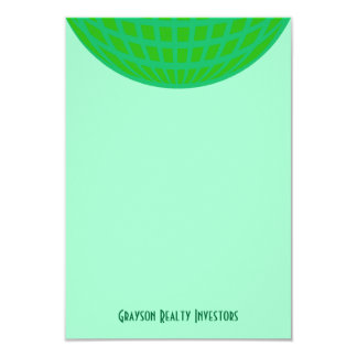 Bright Green Global Business 9 Cm X 13 Cm Invitation Card