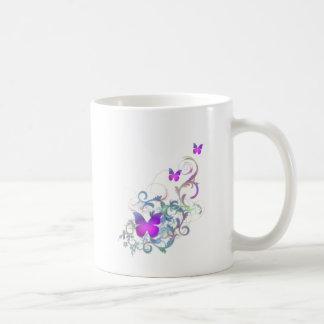Bright Purple Butterfly Basic White Mug