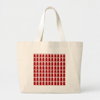 Bright Red Fence Panel Jumbo Tote Bag