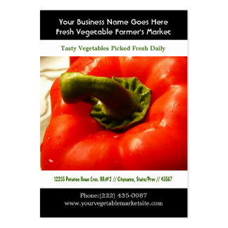 Bright Red Pepper Photo Pack Of Chubby Business Cards