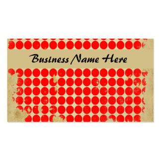 Bright Red Polka Dot Business Card