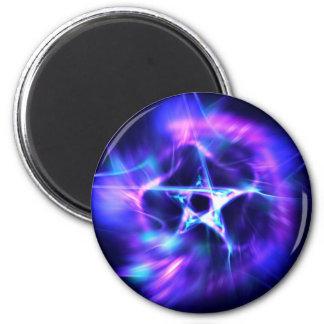 Bright Star 6 Cm Round Magnet