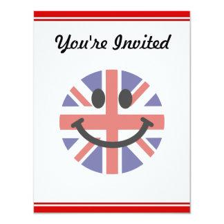 British Flag Smiley face 11 Cm X 14 Cm Invitation Card