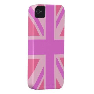 British Flag (Union Jack) in pink iphone Case-Mate iPhone 4 Case
