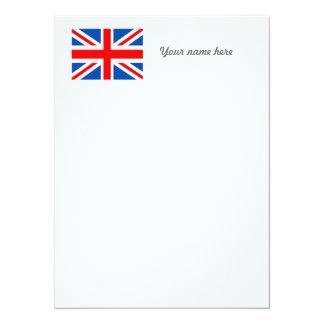 British flag, various gifts 14 cm x 19 cm invitation card