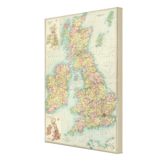British Isles political map Canvas Prints