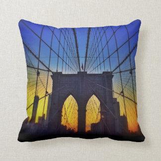Brooklyn Bridge At Sunset Cushions