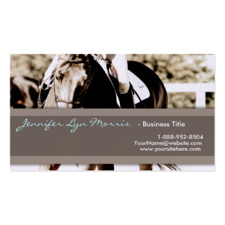 Brown and White Show Horse Pack Of Standard Business Cards