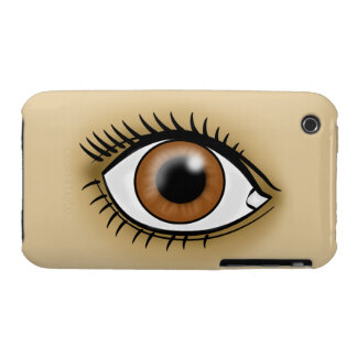 Brown Eyes icon iPhone 3 Cover