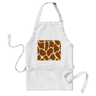 Brown Giraffe Print Pattern. Standard Apron