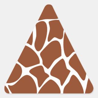 Brown Giraffe Print Pattern. Triangle Sticker