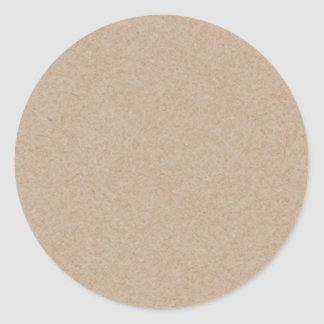 Brown Kraft Paper Background Printed Round Sticker