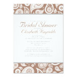 Brown Paisley Bridal Shower Invitations