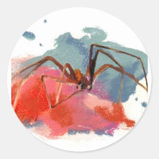 Brown Recluse Spider Round Sticker