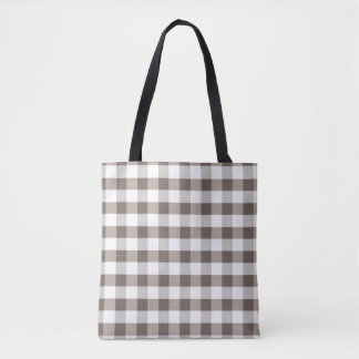 Brown Table Cloth Pattern Tote Bag