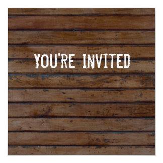 Brown Wood Style Invitation