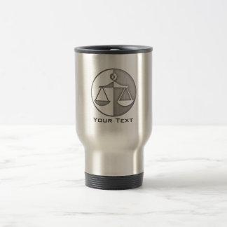 Brushed Metal-look Justice Scales Stainless Steel Travel Mug