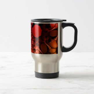 Bubbling Rainbow of Fractals Stainless Steel Travel Mug