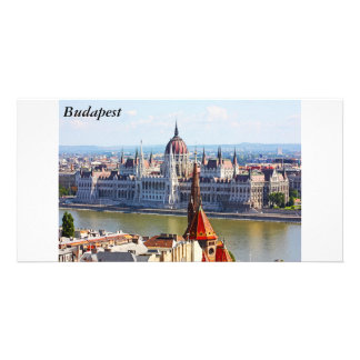 Budapest, the building of the Parliament, Budapest Customized Photo Card