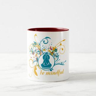 Buddha Be Mindful Two-Tone Mug