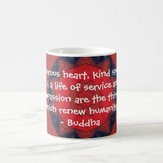 Buddha  compassion QUOTE QUOTATION Basic White Mug