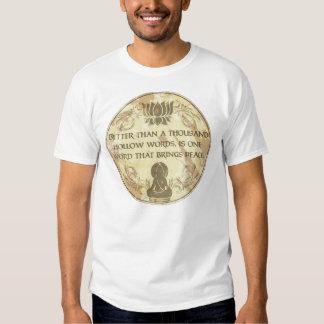 Buddha Hollow Words T Shirt