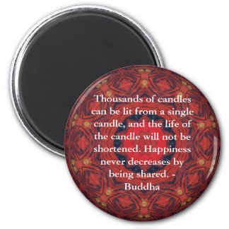 Buddha inspirational QUOTE - Thousands of candles 6 Cm Round Magnet