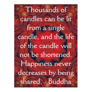 Buddha inspirational QUOTE - Thousands of candles Postcard