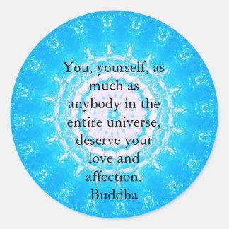 Buddha  QUOTATION Buddhist Spiritual Quotes Round Sticker