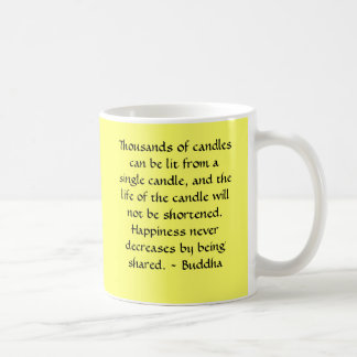 Buddha- Thousands of candles can be lit Basic White Mug