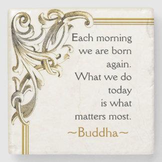 Buddha's Motivational Words Of Wisdom Stone Beverage Coaster