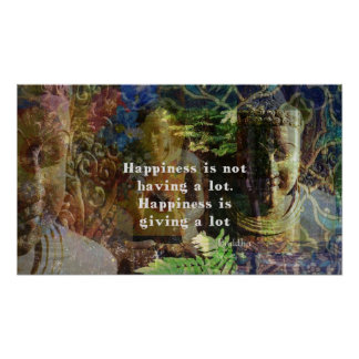 Buddhist quotation  about happiness and life poster