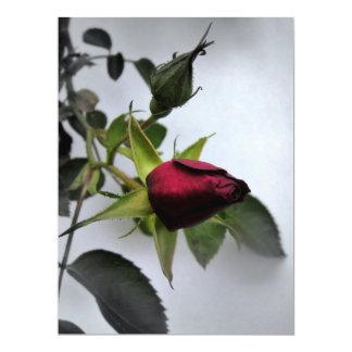 BUDDING ROSE ~ 17 CM X 22 CM INVITATION CARD