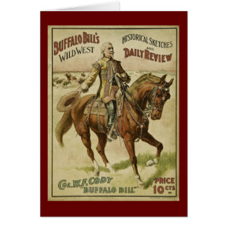 Buffalo Bill Wild West Daily Shows Greeting Card