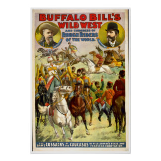 Buffalo Bill Wild West VINTAGE POSTER