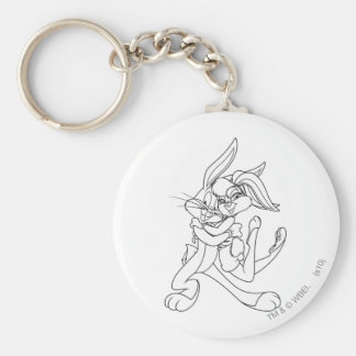 BUGS BUNNY™ and Lola Bunny Basic Round Button Key Ring