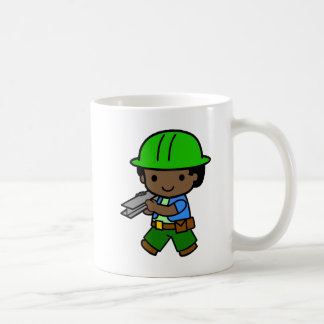 Builder Boy 2 Basic White Mug