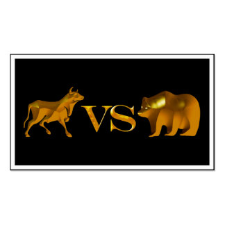 Bull Market Vs Bear Market Pack Of Standard Business Cards
