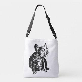 Bulldog Dog Custom All-Over-Print Cross Body Bag Tote Bag