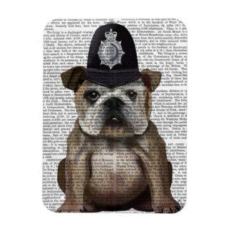 Bulldog Policeman Rectangular Photo Magnet