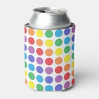 Bullseye Rainbow Can or Bottle Cooler